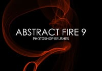 Free Abstract Fire Pinceles para Photoshop 9