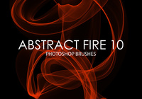 Free Abstract Fire Pinceles para Photoshop 10