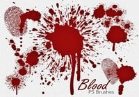 20 Blood Splatter PS Brushes abr vol.7