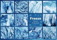 Ice Freeze Texture PS Brushes