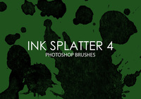 Free Ink Splatter Photoshop Brushes 4