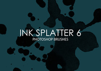 Free Ink Splatter Pinceles para Photoshop 6