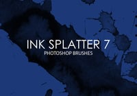 Free Ink Splatter Pinceles para Photoshop 7
