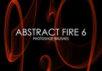 Free Abstract Fire Photoshop Brushes 6