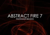 Free Abstract Fire Photoshop Brushes 7