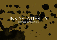 Free Ink Splatter Photoshop Bürsten 15