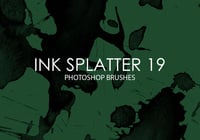 Free Ink Splatter Pinceles para Photoshop 19