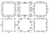 Decorative Frame Brushes Collection
