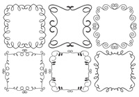 Collection de brosses à cadre décoratif
