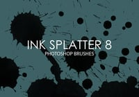 Free Ink Splatter Pinceles para Photoshop 8