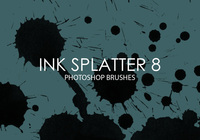 Free Ink Splatter Photoshop Brushes 8