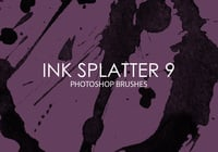 Free Ink Splatter Photoshop Brushes 9