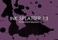 Free Ink Splatter Photoshop Brushes 13