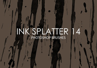 Gratis Ink Splatter Photoshop Borstar 14