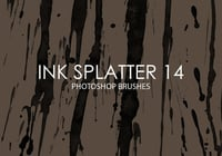 Free Ink Splatter Pinceles para Photoshop 14