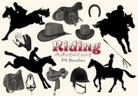 20 Riding Adventure PS Brushes abr. vol.8