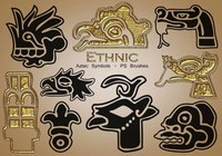 20 Ethnic Aztec Symbols PS Brushes abr. vol.19