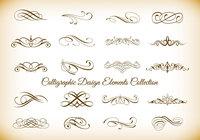 Calligraphic Design Element Brushes