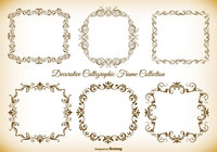 Calligraphic Style Frame Brushes