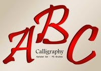 26 Calligraphy Alpha PS Brushes abr. Vol.4