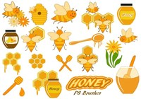 20 Cute Honey PS Brushes abr. Vol.6
