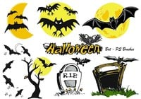 20 Halloween Bat PS Brushes abr.Vol.7
