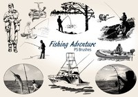 20 Fishing Adventure PS Brushes abr. Vol.10