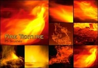 20 Fire Texture PS Brushes abr.Vol.17