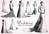 20 Wedding Dress PS Brushes abr. Vol.13