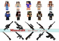 20 Minecraft PS Brushes abr. Vol.16