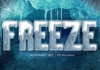 20 Freeze Alphabet Set PS Brushes abr. Vol.8