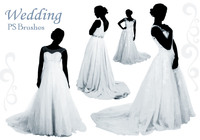 20 Wedding Dress PS Brushes abr. vol.12