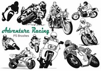 20 Motorcycle Racing Adventure PS Brushes abr. Vol.13