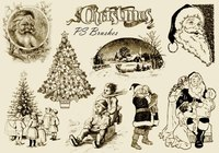 20 Vintage Kerstmis PS Borstels abr. Vol.10