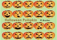 20 Halloween Pompoen PS Borstels abr.Vol.9