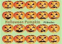 20 Halloween Pumpkin  PS Brushes abr.Vol.9