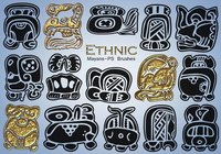 20 Ethnic Maya Glyphs PS Pinceles abr. Vol.18