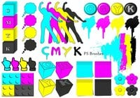 20 Cmyk PS Brushes abr.Vol.12