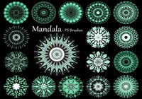 20 Mandala PS Brushes abr. vol.12