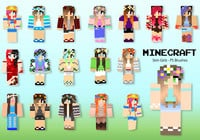 20 Minecraft Skin Girl PS Brushes abr. Vol.14