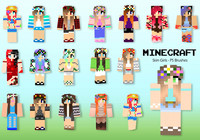 20 minecraft skin girl ps brosses abr. Vol.14