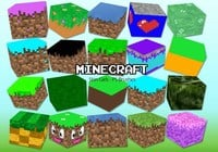 20 Minecraft Block PS Brushes abr. Vol.15