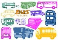 20 Cute Bus Ps Brushes vol.5