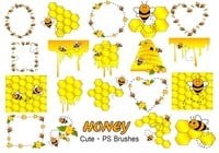 20 Cute Honey PS Brushes abr. vol.4