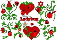20 Ladybug PS Brushes abr.Vol.7