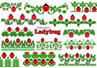 20 Ladybug Banner PS Brushes abr.Vol.8