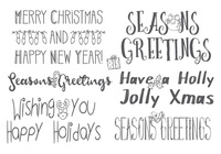 Hand Drawn Christmas Lettering Brushes
