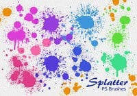 20 Splatter Color PS Brushes abr vol.5