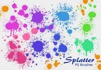 20 Splatter Color PS Brushes abr vol.5