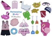 20 Baby Swimming PS Penslar efter Vol.4